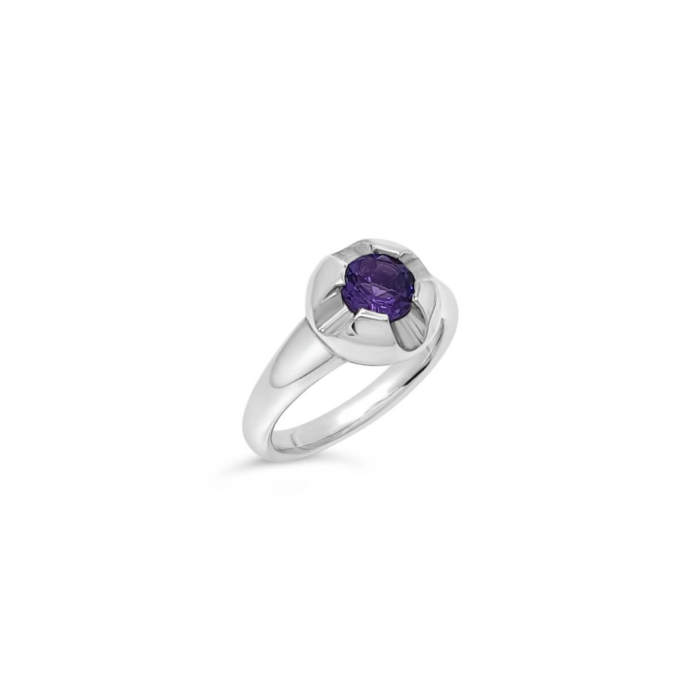 Sterling Silver & Amethyst Orbit Ring
