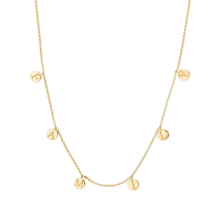 18kt Yellow Gold Family Necklace
