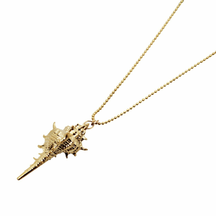 Gold Plated Conch Shell Necklace