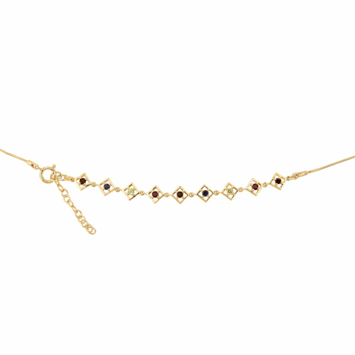 14kt Yellow Gold Plated Silver Lolite Charming Self-love Bracelet