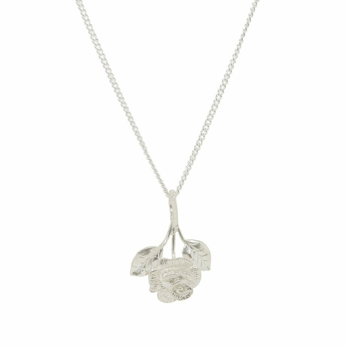 Chain Silver Rose Necklace