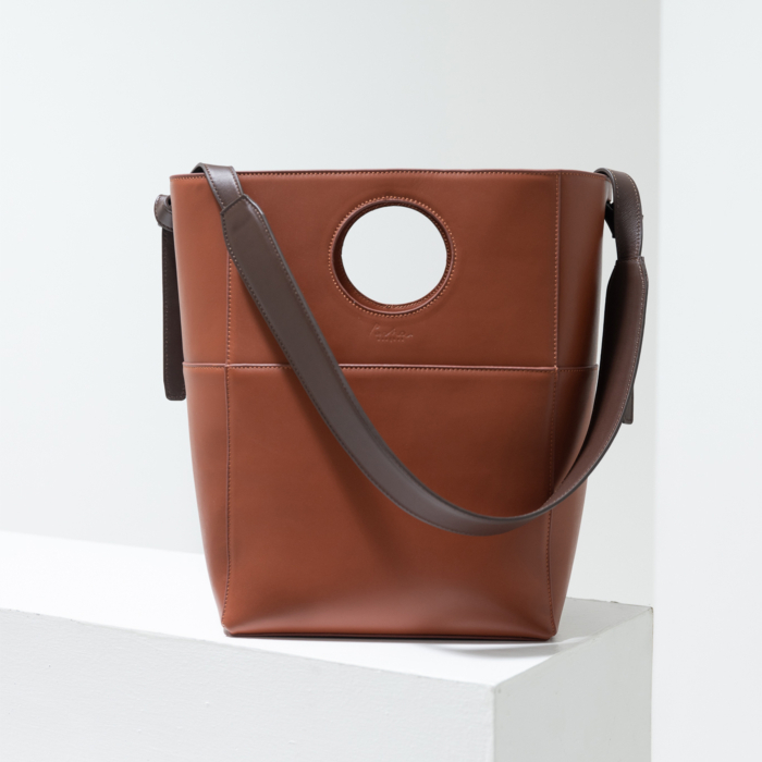 'Jupiter' Leather Tote in Brown