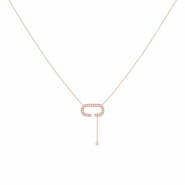 14kt Rose Gold Plated Celia C Drop Lariat Necklace