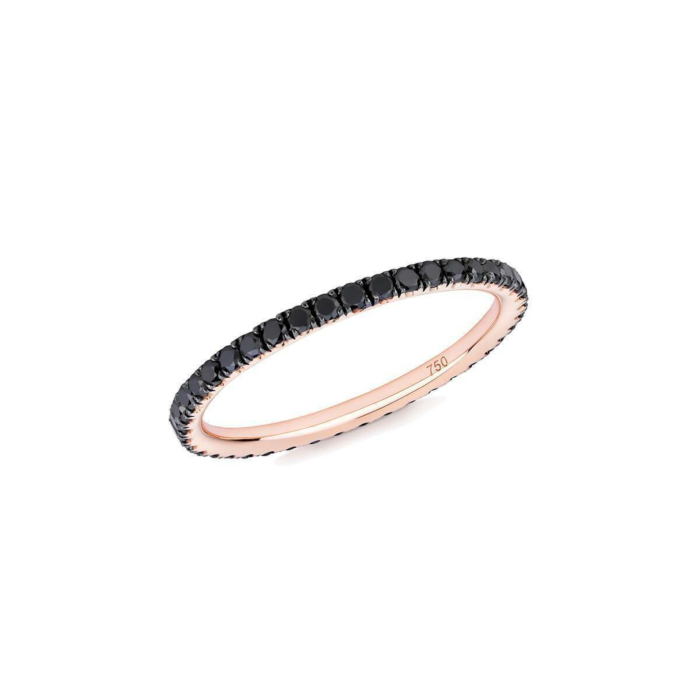 18kt Rose Gold & Black Diamond Full Eternity Ring
