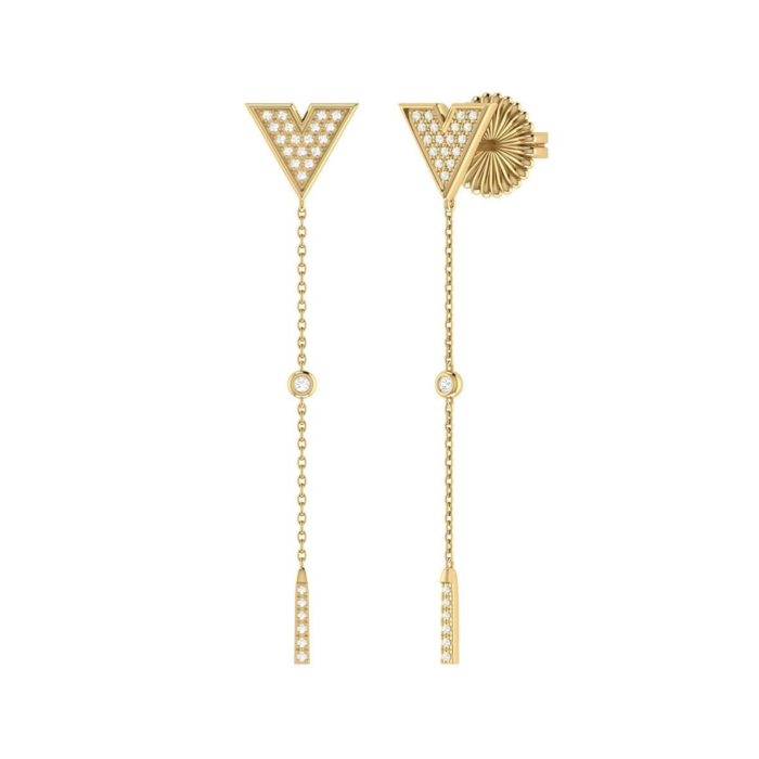 Yellow Gold Plated Silver Rise & Grind Earrings