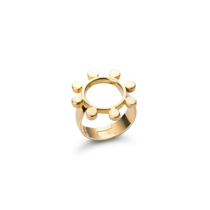 18kt Yellow Gold Sun Crown Ring
