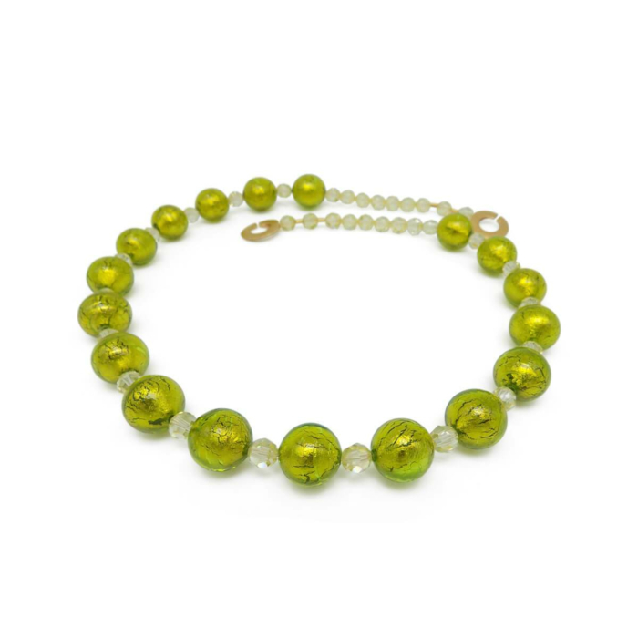 Murano Glass Bead Spring Love Necklace