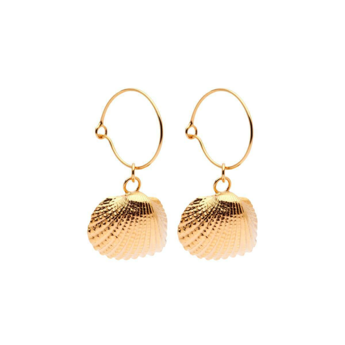 Yellow Gold Plated Oceania Ark Hoops