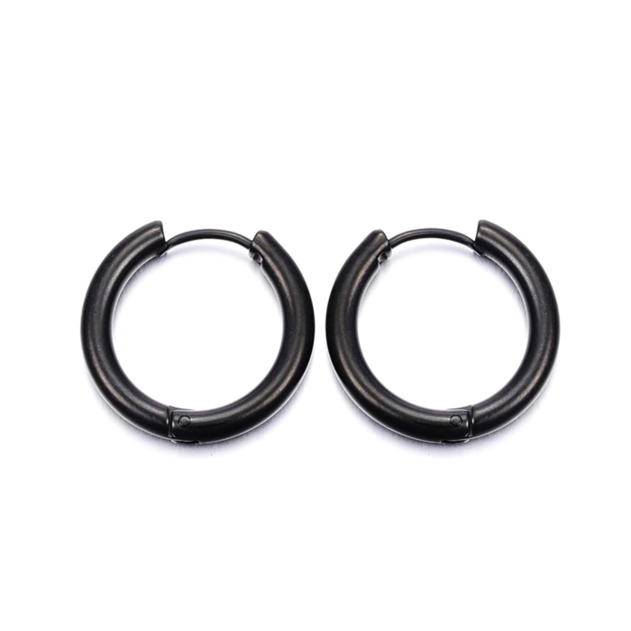 Can You Click It Black Hoop Earrings