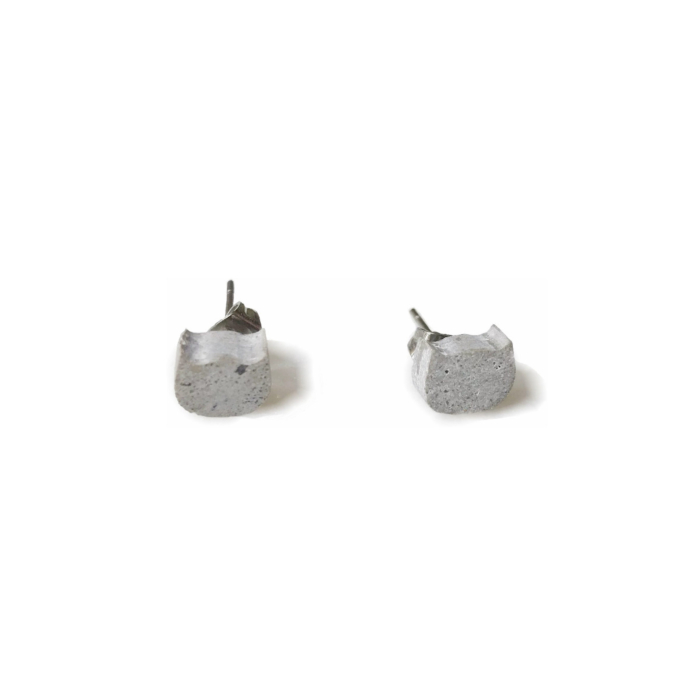 Concrete Small Cats Stud Earrings