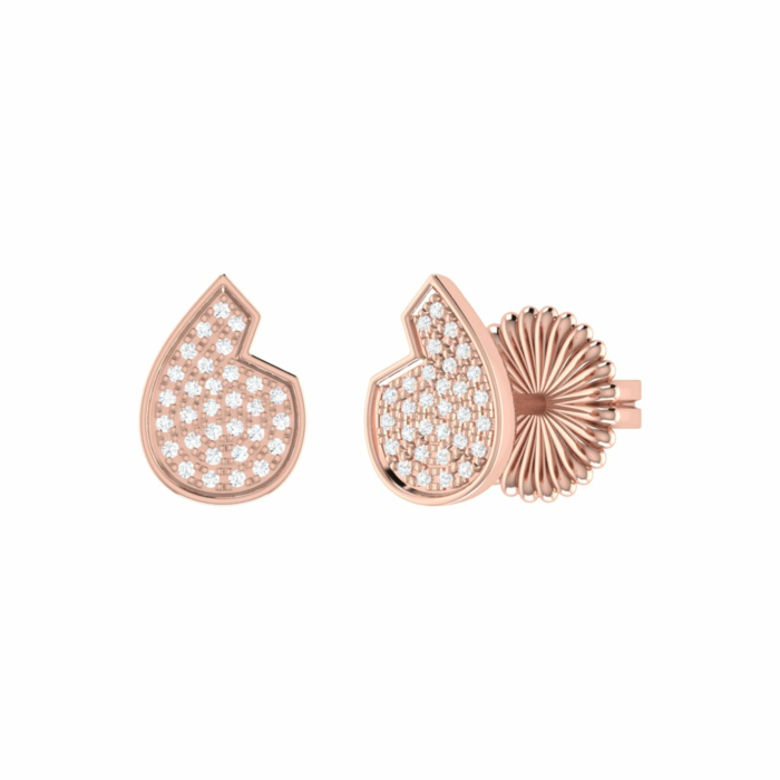 14kt Rose Gold Plated Street Cycle Stud Earrings
