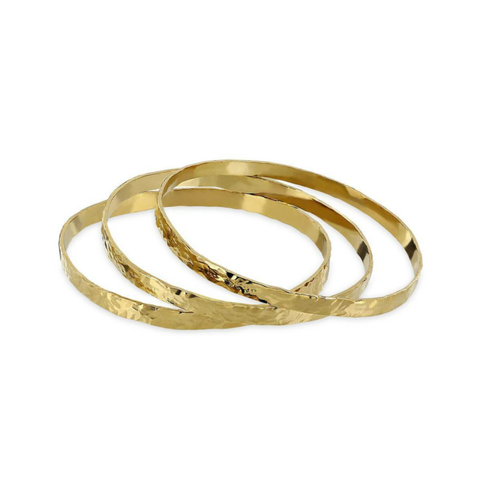 24kt Gold Plated Enyo Trio Bracelets