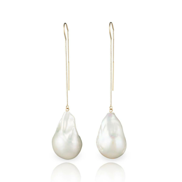 14kt Gold Baroque Freshwater Pearl Earrings