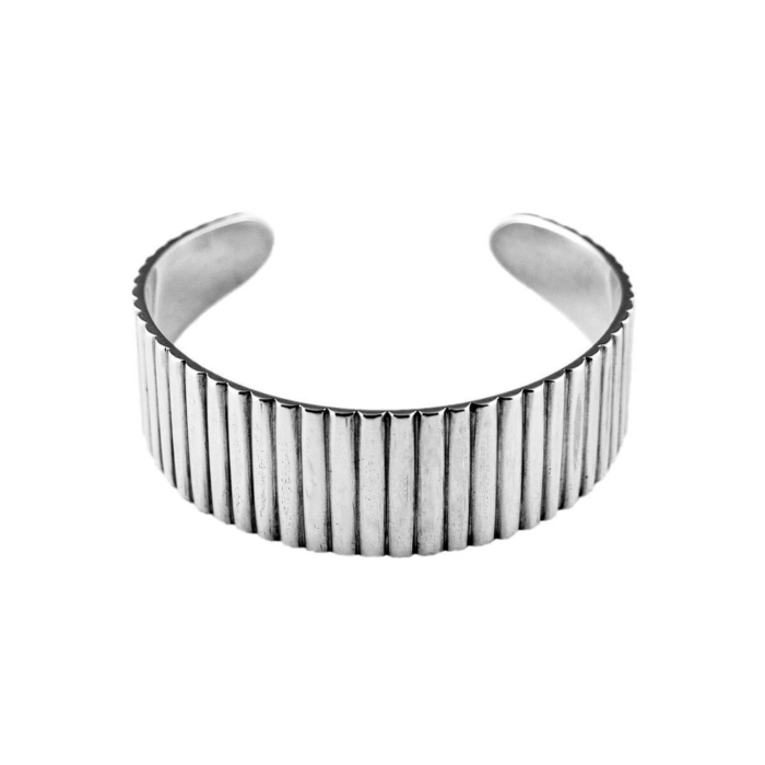 Sterling Silver Industrial Cuff Bangle