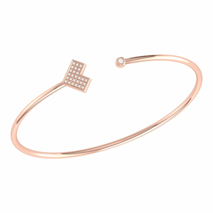 14kt Rose Gold Plated One Way Cuff