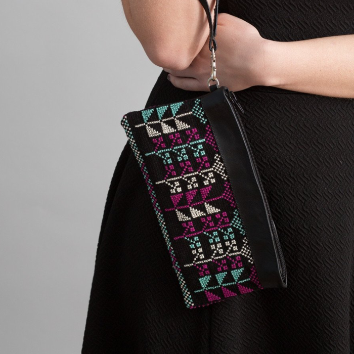 The Flowers Clutch in Black