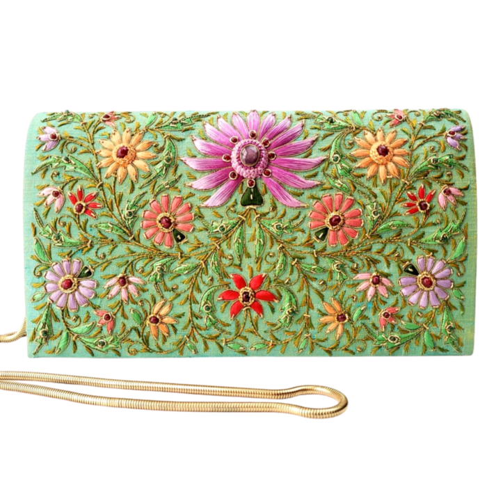 Floral Silk Clutch Bag