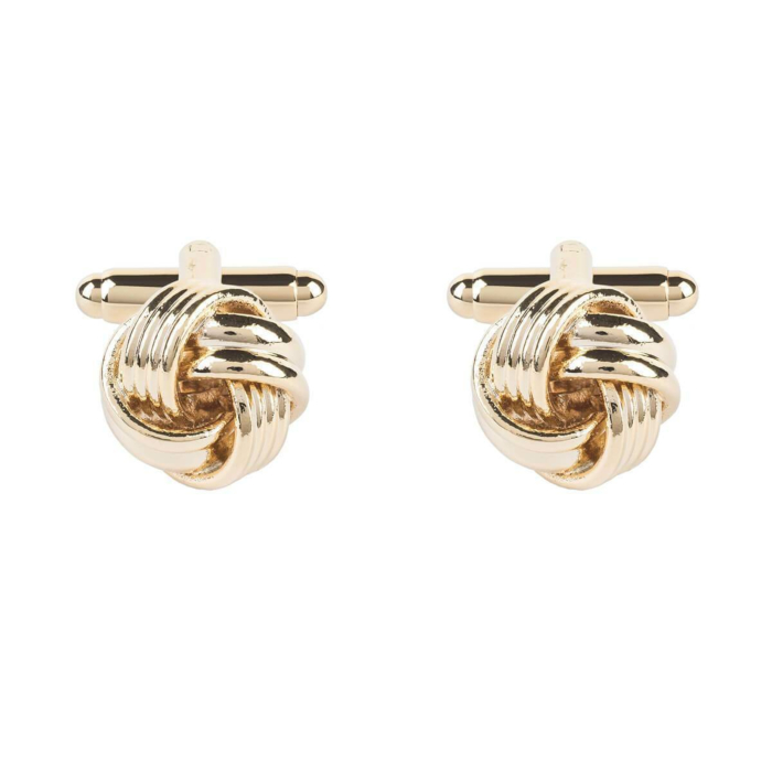 Yellow Gold Plated Knot Cufflinks