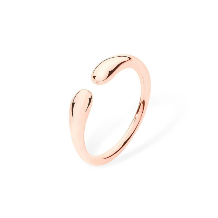 Open Double Drop Rose Gold Plated