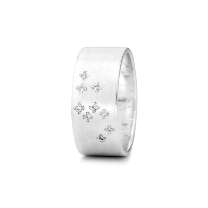 Sterling Silver & Diamond Leo Zodiac Constellation Ring