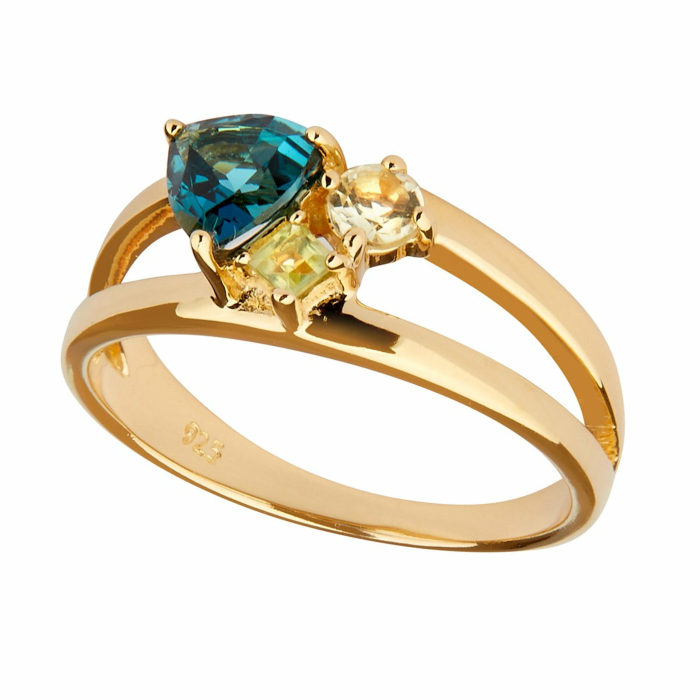 14kt Gold Plated Silver Topaz Lucid Ring