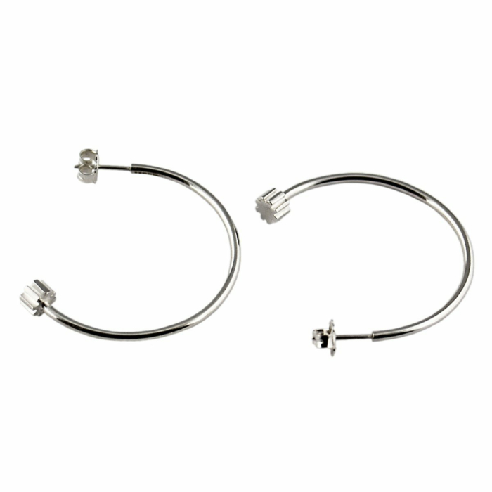 Sterling Silver Little Cog Hoop Earrings