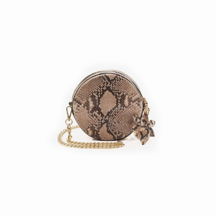 Snake Leather Daisy Handbag