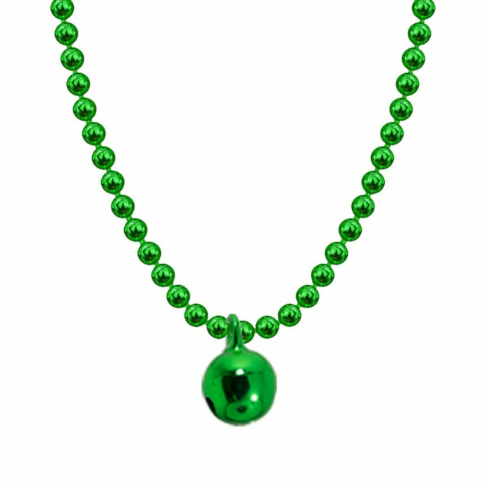 Allumette Bell Necklace - Green