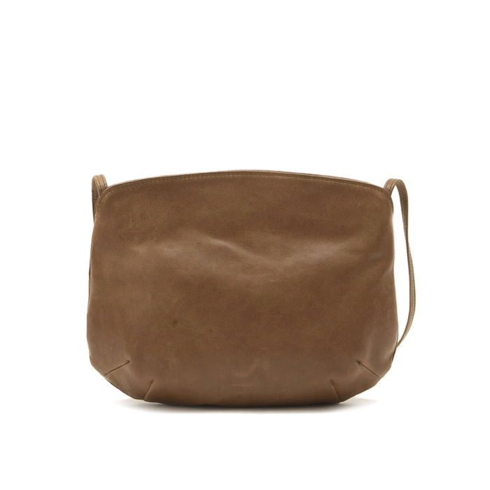 Leather Debbie Taupe Cross-Body Bag