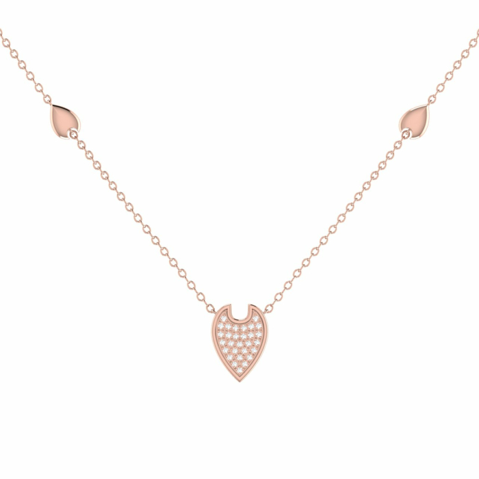 14kt Rose Gold Plated Raindrop Necklace