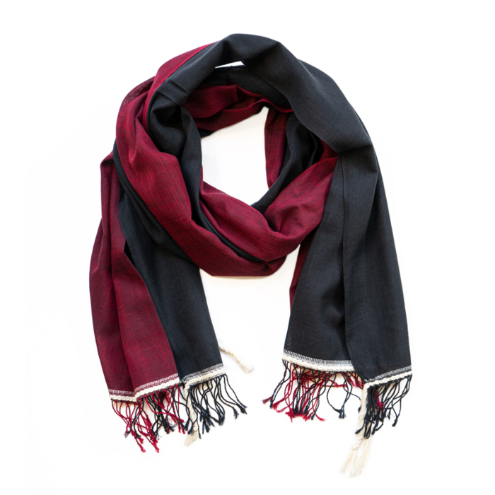Black & Red Organic Cotton Scarf