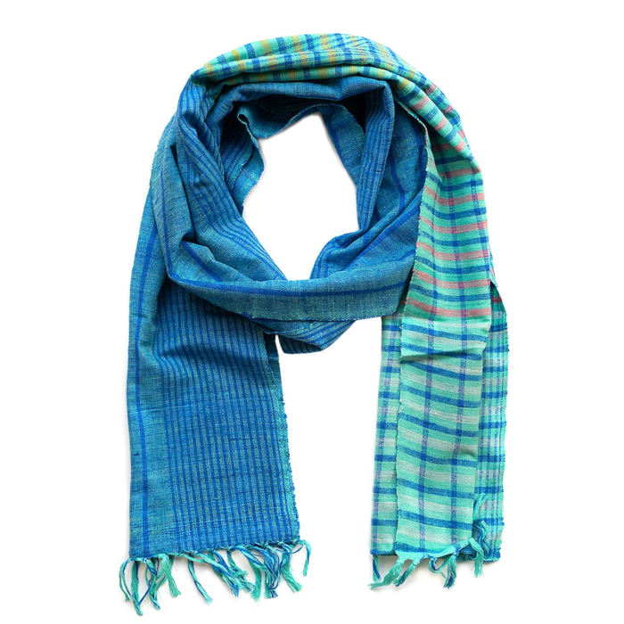 Blue Eri Silk Stole