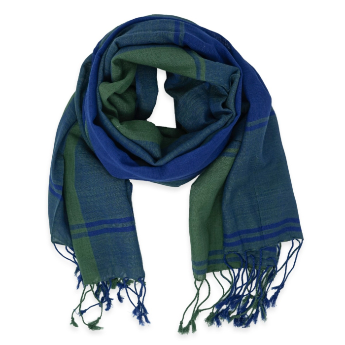 Turquoise and Sea Blue Cotton Scarf