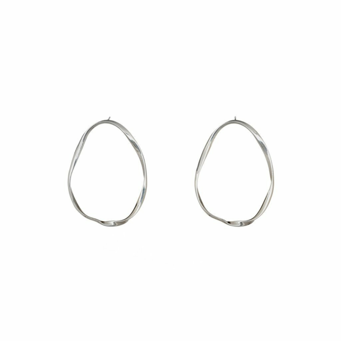 Large Twist Hoop Earrings