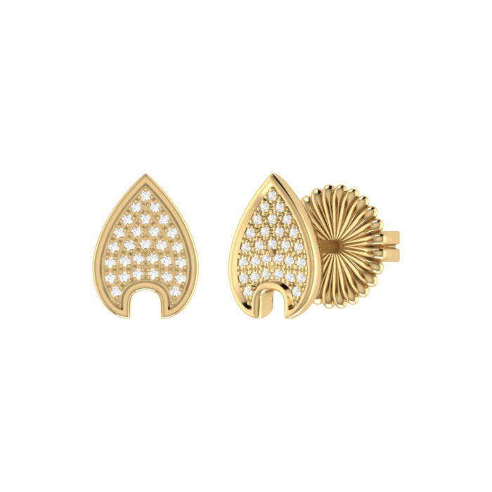 14kt Yellow Gold Plated Raindrop Stud Earrings
