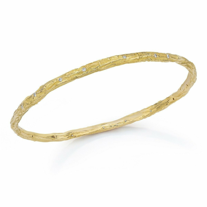 Banyan Tree Bangle 18kt Gold With Diamonds