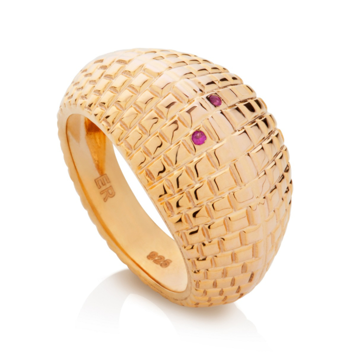 18kt Gold Yellow Brick Road Ruby Ring