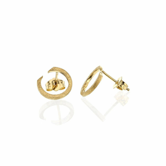 Circling Gold Plated Earrings