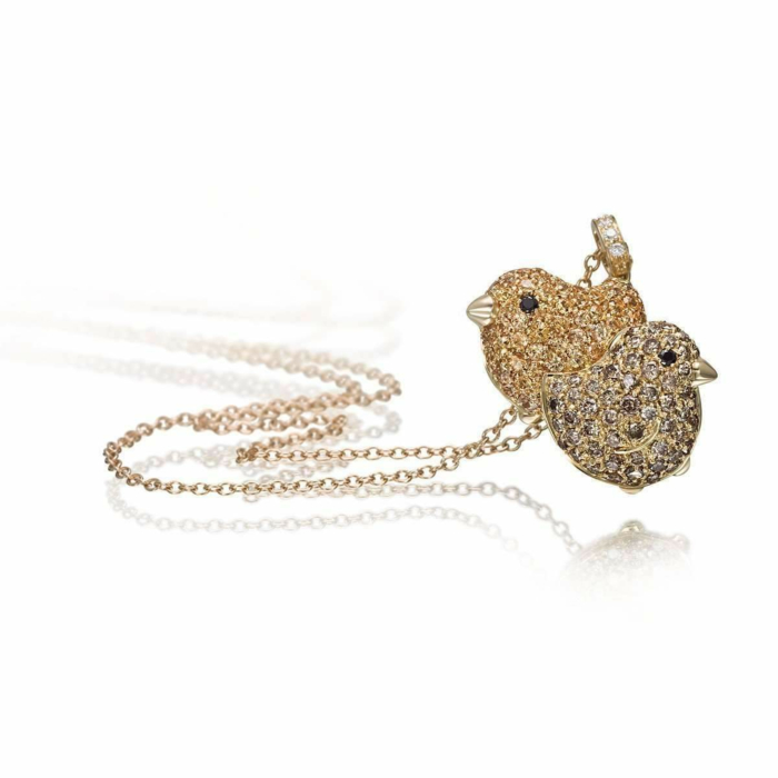 Gold & Diamond Pet Jewels Collection Chicks Necklace | Pinomanna