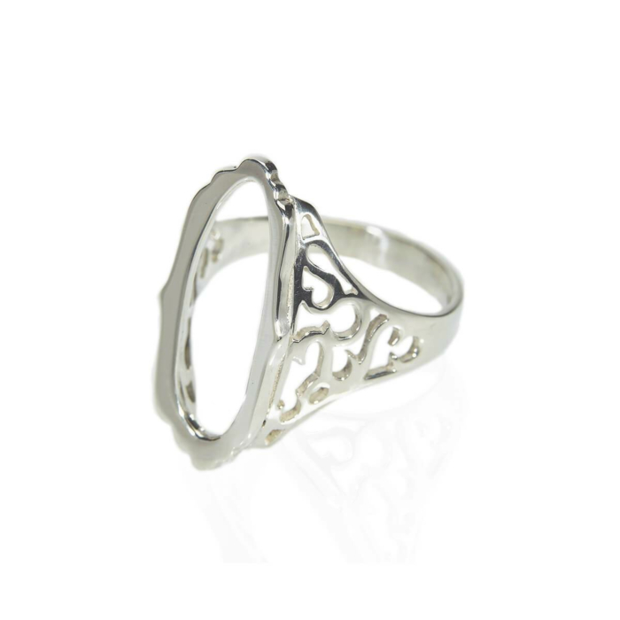 Sterling Silver Mirror Hollow Ring