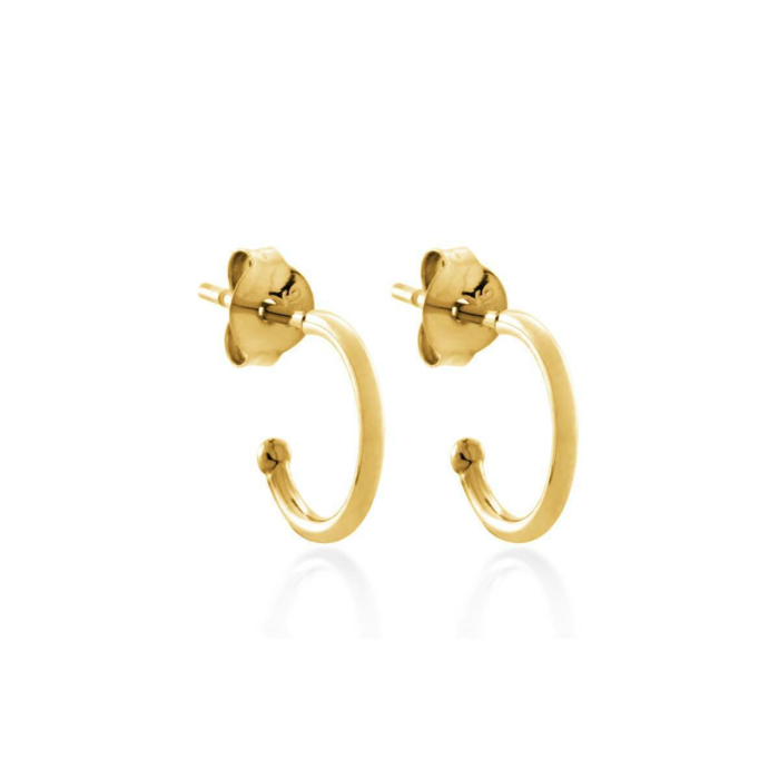Yellow Gold Plated Round Hoop Earrings