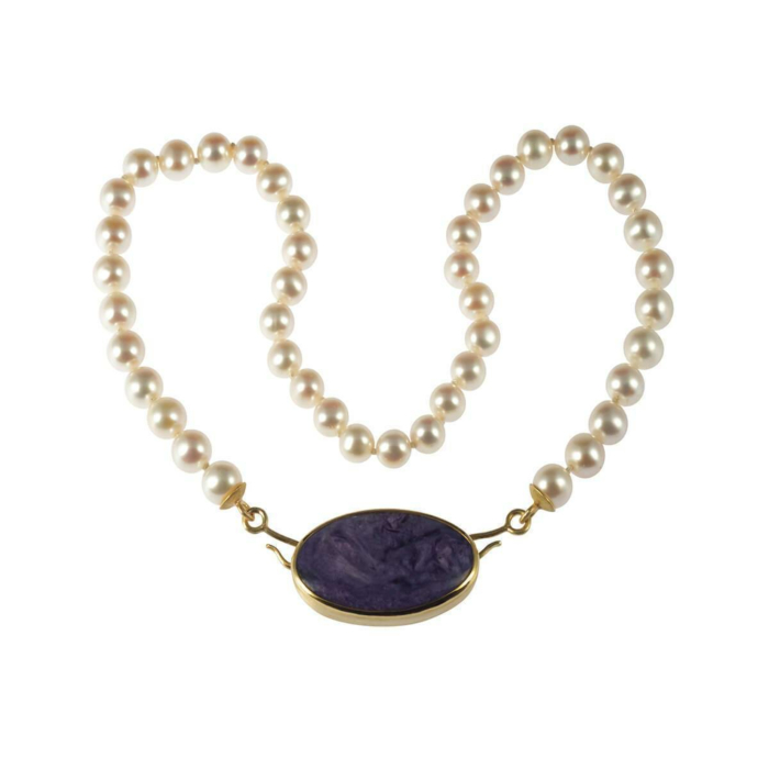 Yellow Gold Rhapsody In Lilac Necklace | Goldspindel