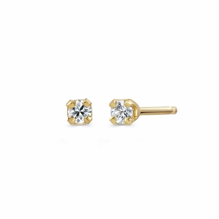 Yellow Gold Minimalist Bea Studs