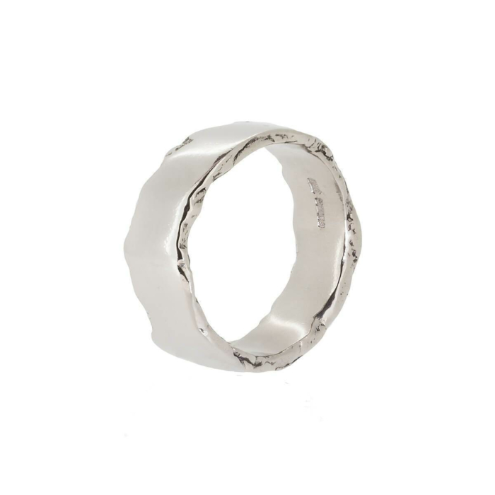 Wolf White Gold Ring