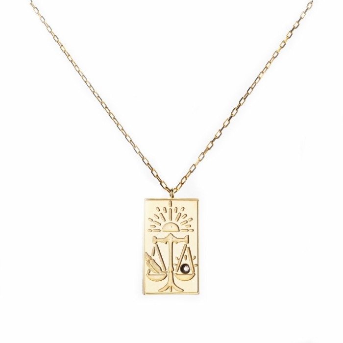 24kt Yellow Gold Plated Celestial Days - Tyr's Day Necklace