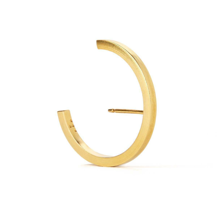 Gold Plated Silver Concord Lobe Cuff Earrings