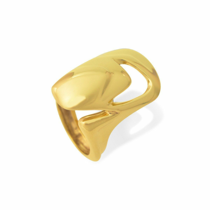 Shell ring I in gold