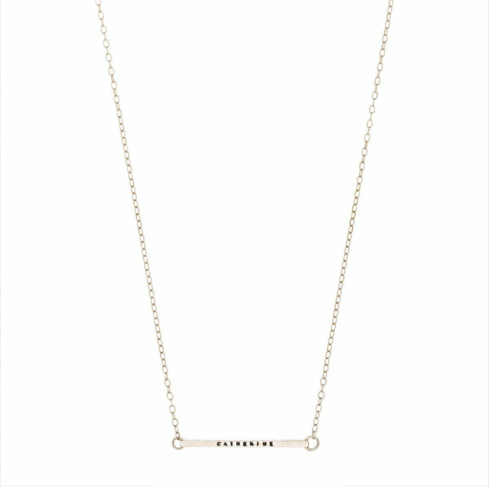 Personalised Silver Bar Necklace