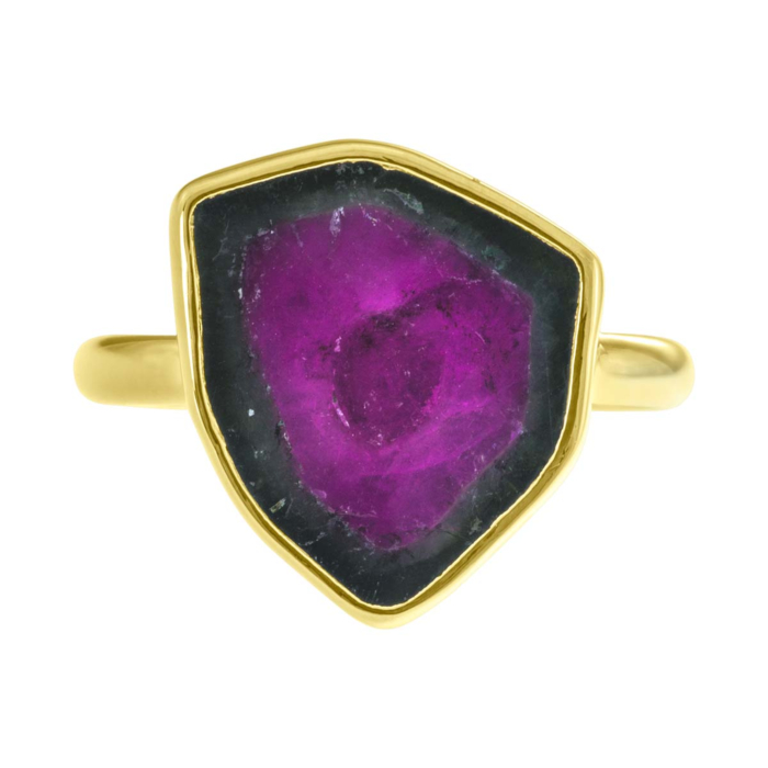 18kt Fairtrade Gold Harmony Ring with Watermelon Tourmaline