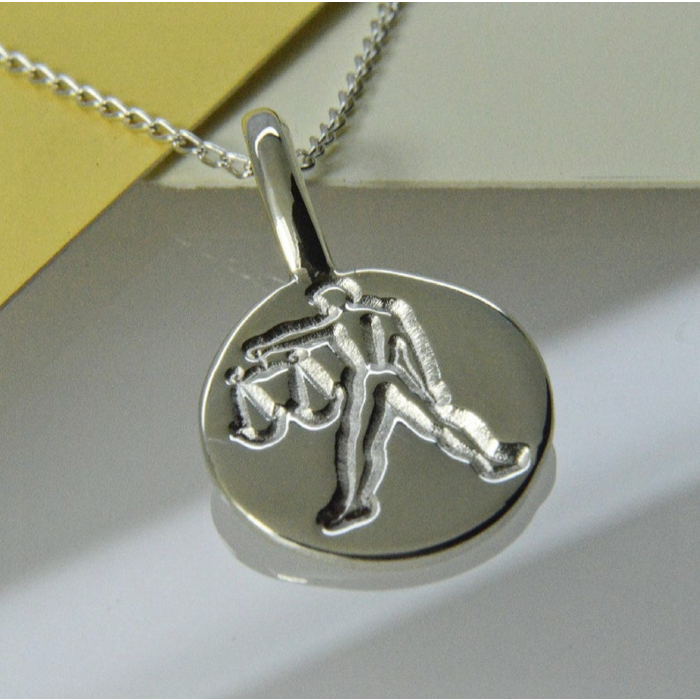 Libra Zodiac Charm Necklace